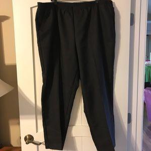 White Stag Black Elastic Waist Pants 3X